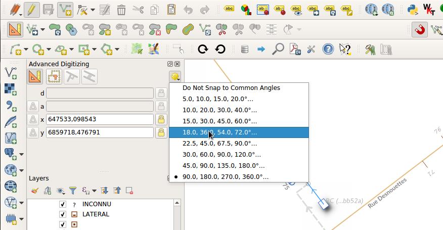 Nuevas opciones en la ventana de digitalización avanzada QGIS 3.4 LTR