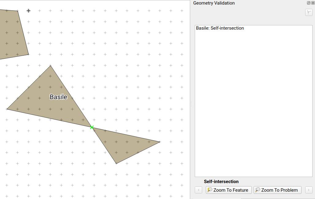 Comprobar la validez de la geometría en QGIS 3.4 LTR